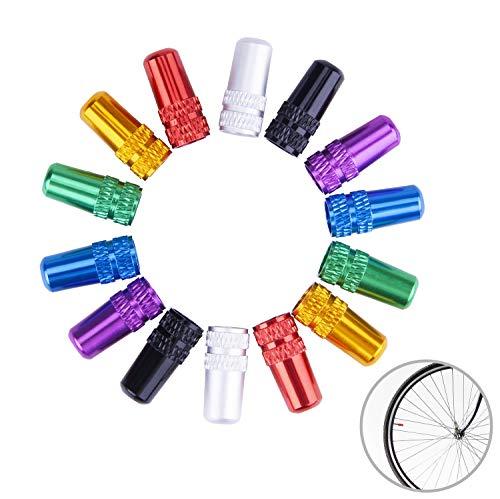 MICGEEK 14 Stücke Ventilkappen Fahrrad, Fahrradventil Kappe Fahrrad Ventilkappen Französisch Mehrfarbig Presta Ventilkappen