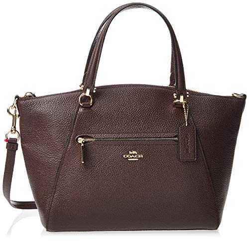 COACH Pebbled Prairie Satchel Li/Oxblood One Size