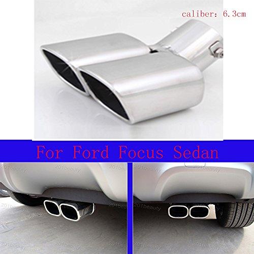 Neuf rond en acier inoxydable Chrome Queue de silencieux Tail Pipe pour Focus Sedan 2012 2013 2014 2015 2016 2017 2018 2019 2020