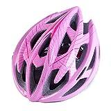 WEZER OTY Casco Bicicleta,Protección para Montar Ski & Snowboard Unisex Cascos Bici Adultos,con luz Trasera LED,56-63cm,Rosado