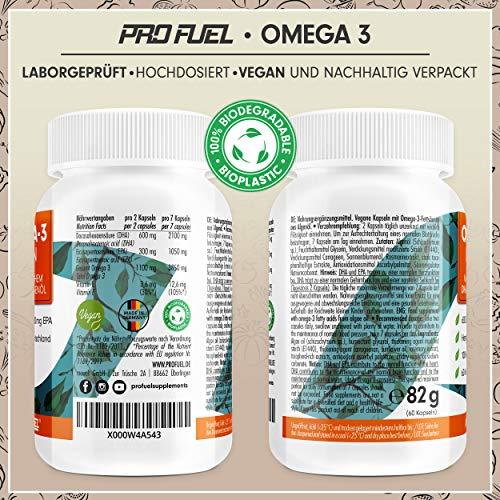 PROFUEL® V-OMEGA (Motoroel) │Vegane OMEGA 3 Fettsäuren │Microalgen EPA & DHA hochdosiert │Die optimale und pflanzliche Alternative zu Fischölkapseln │60 Soft Caps - 6