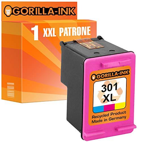 Gorilla-Ink Juego de 1 Cartuchos de Tinta compatibles con HP 300 XL Color Deskjet D1600 1660 2500 2530 2545 2560 2566 2600 2660 5560 5660 F2400 2410 2420 2430 2440 2480 2492 4200 4210 4224