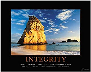 Successories Unframed Poster, No Mats - Integrity Cathedral Rock Motivational Poster