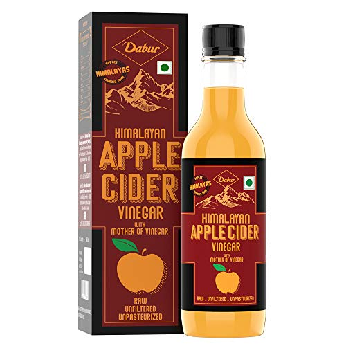 Dabur Himalayan Apple Cider Vinegar - Raw , Unfiltered and Unpasteurized with Mother of Vinegar - 500 ml