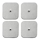 Med X Tens TENS/EMS 40 Tens Unit Replacement Pads Electrode Pads for Tens Units, EMS, and Massagers Reusable up to 25 Times per pad - 2x2 inch