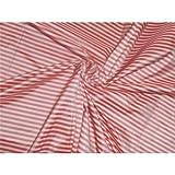 Seide Taft rot und weiß dünn Streifen 137,2cm von der