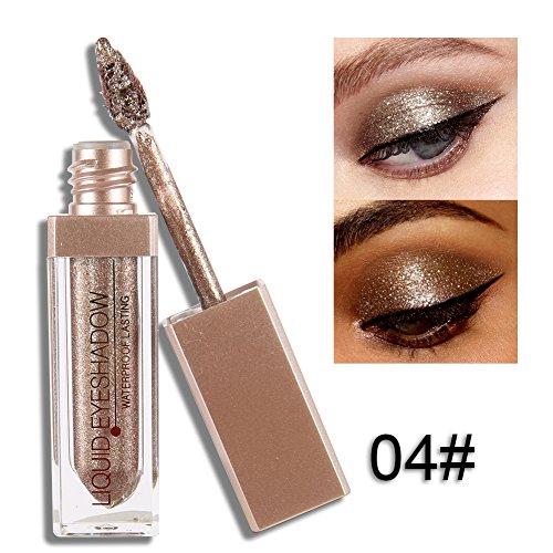 ROPALIA 12 Farben Glitter Liquid Lidschatten Wasserdichte Dauerhafte Augenschatten Make-up