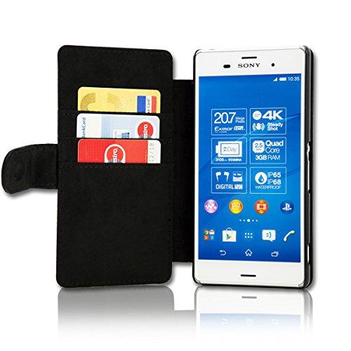 Book Style Flip Handy Tasche Case Schutz Hülle Schale Motiv Etui für Huawei Ascend Y330 - A42 Design11 - 6