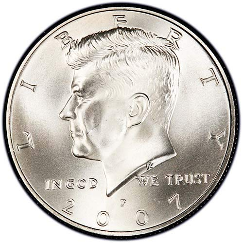 2007 P Satin Finish Kennedy Half Dollar Choice Uncirculated US Mint