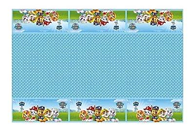PAW PATROL 0545, Mantel de plástico Patrulla Canina, Fiestas y cumpleaños, Dimensiones 120x180cms por verbetena