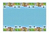 PAW PATROL 0545, Mantel de plástico Patrulla Canina, Fiestas y cumpleaños, Dimensiones 120x180cms
