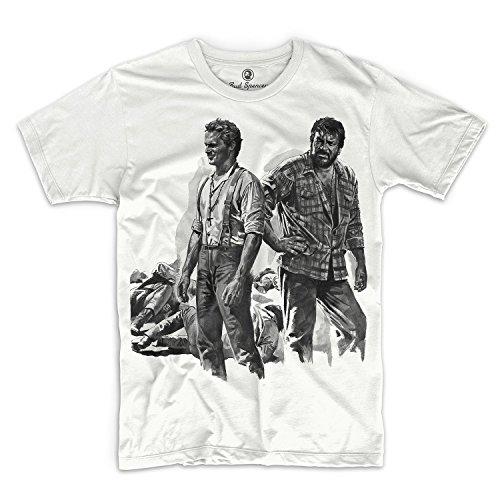 Bud Spencer - Zwei Himmelhunde auf dem Weg zur Hölle - T-Shirt (L) , Farbe - Weiß