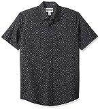 Amazon Essentials - Camisa de manga corta y corte entallado con estampado para hombre, Small Floral, US XS (EU XS)
