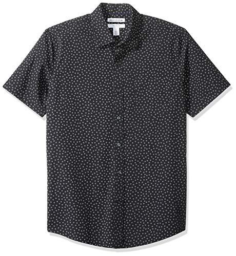 Amazon Essentials - Camicia a maniche corte, da uomo, con stampa, Small Floral, US M (EU M)
