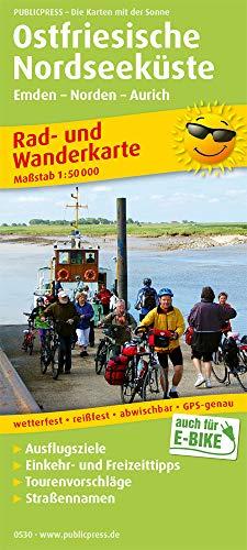 Ostfriesische Nordseeküste, Westlicher Teil: Rad- und Wanderkarte mit Ausflugszielen, Einkehr- & Freizeittipps, wetterfest, reissfest, abwischbar, GPS-genau. 1:50000 (Rad- und Wanderkarte / RuWK)