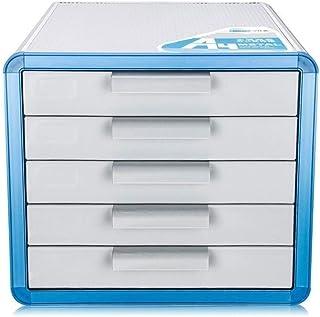 KANJJ-YU En alliage d'aluminium, de stockage Tiroirs bureau Rangement Organisateur tiroir verrouillable Sorter A4 Boîte de...