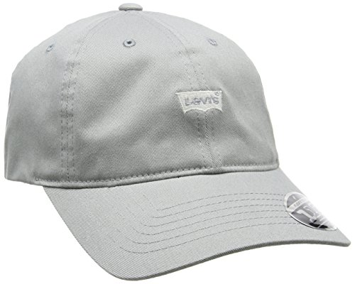 Levi's Herren Mini Batwing Dad Hat (self Closure) Schirmmütze, Grau (Light Grey), One Size (Herstellergröße: UN)
