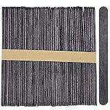 200 Standard Craft Wood Popsicle Sticks 4.5 Inch -Black