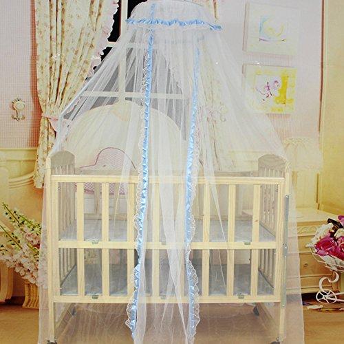 Bluelans® Moustiquaire Ciel de Lit Polyester Moustiquaire Moustiquaire Moustiquaire pour Lit 170 x 470 cm Bleu