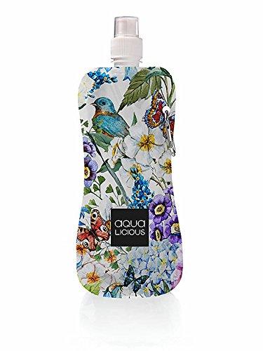 Aqua Licious 6072 Faltbare Trinkflasche mit Karabiner-Spring