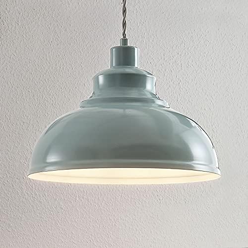 Lámpara colgante 'Albertine' (Vintage) en Azul hecho de Metal e.o. para Salón & Comedor (1 llama, E27, A++) de LINDBY | lámpara colgante, lámpara colgante, lámpara, lámpara de techo, lámpara de techo
