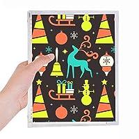 クリスマスの鐘そり祭ヘラジカ 硬質プラスチックルーズリーフノートノート