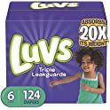 124-Count Luvs Ultra Leakguards Disposable Baby Diapers (Size 6)