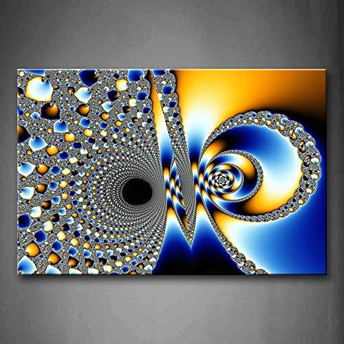 NIMCG Imagen del Arte de la Pared Espirales fractales Impresión de la Lona Cartel Moderno Abstracto con para la decoración de la Sala de Estar casera (sin Marco) R1 40x50 cm