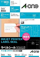 (まとめ買い) エーワン ラベルシール インクジェット 18面 100枚 28858 【×3】