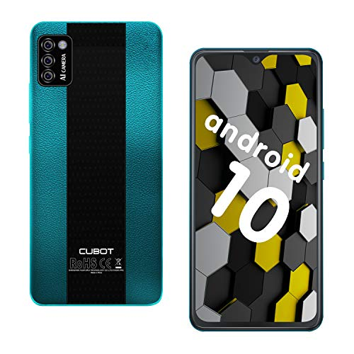 CUBOT Note 7 Smartphone 4G, Teléfono Móvil de 5,5″ Pantalla HD +, Android 10.0, Tripe Cámaras, 16GB ROM(128GB Ampliable SD), Dual SIM, 3100 mAh, Face ID, Verde