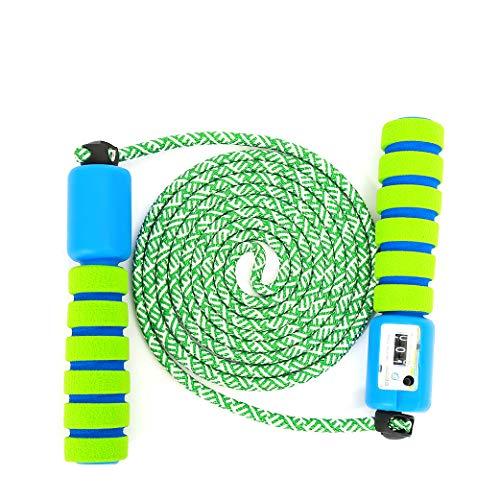 sfesnid Springseil Kinder Speed Rope mit Zähler Und Komfortablen & Anti-Rutsch Griffen für Fitness und Kalorienverbrauch