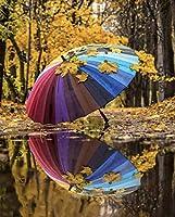 DIY 数字 油絵 塗り絵 キット 大人 子ども 塗り絵 カラフルな傘の森 デジタル油絵 手塗り 数字キットによる絵画 絵かき インテリア 壁飾り ホームデコレーション 40x50cm(額縁なし)