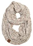 S1-6033-67 Funky Junque Infinity Scarf - Oatmeal (Confetti)
