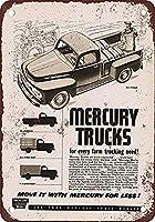 Mercury Trucks ティンサイン ポスター ン サイン プレート ブリキ看板 ホーム バーために