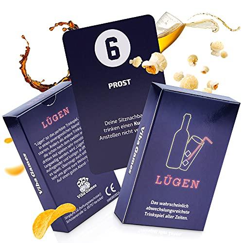 VibaGames® Lügen – endlich auch auf Amazon | Trinkspiel Karten - perfektes Party Zubehör | ideal für Junggesellenabschied & Partyspiele | lustig & abwechslungsreiche Spiele für Erwachsene
