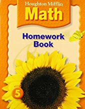 Houghton Mifflin Math: Homework Book (Consumable) Grade 5