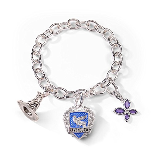 Elbenwald Harry Potter Ravenclaw Bettelarmband Lumos Edition 3 Charms versilbert