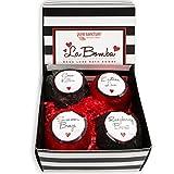 Bath Bombs Gift Set - Luxury Bath Fizzies - Lush Size 6oz Natural Bath Balls - US Made - La Bomba