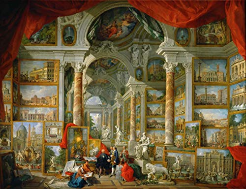 Giovanni Paolo Panini Gallery With Views Of Modern Rome...