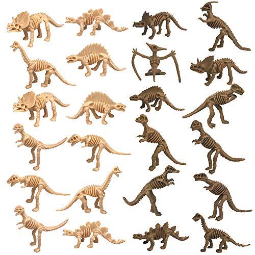 PPXMEEUDC 24 PCS Dinosaur Fossil Skeleton Dinosaur Skeleton Toys Dino Sand Dig Party Favor Decorations