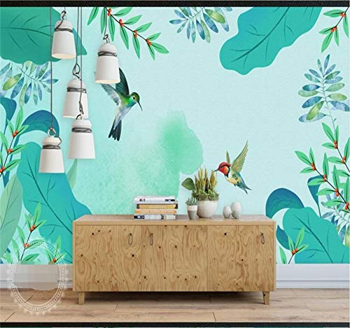 Mural Wallpaper Photo Home Large Custom Mural Wallpaper Small Fresh Watercolor Hand-Painted Pastoral Style Background Wall Wallpaper Wall Covering