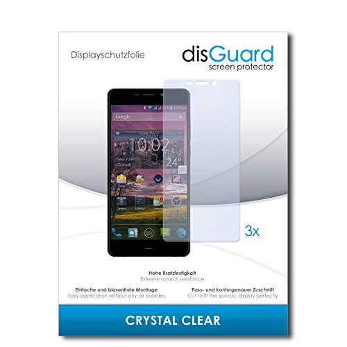 disGuard® Bildschirmschutzfolie [Crystal Clear] kompatibel mit Siswoo R9 Darkmoon [3 Stück] Kristallklar, Transparent, Unsichtbar, Extrem Kratzfest, Anti-Fingerabdruck - Panzerglas Folie, Schutzfolie