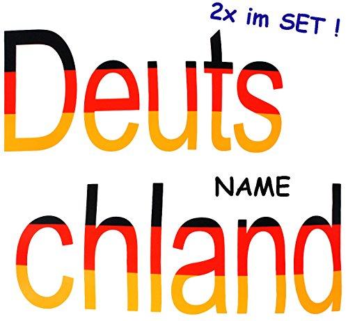 alles-meine.de GmbH 4 TLG. Set _ große _ Fensterbilder -  Deutschland !  - incl. Name - Sticker Fenstersticker Aufkleber - selbstklebend + wiederverwendbar - Fensterbild / z.B...