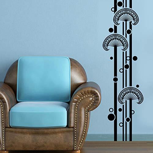 stickers muraux miroir pas cher Bamboo Graphical Pour Salon