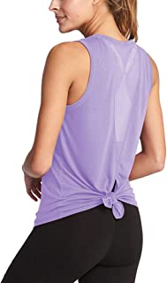 Bestisun Cute Workout Yoga Top Muscle Gym Shirts Sports Activewear Tank Top for Athletic Women