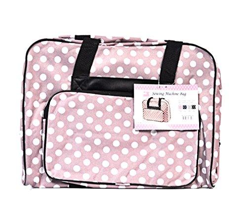 Nähmaschinen Tasche (rosa/weiß gepunktet)