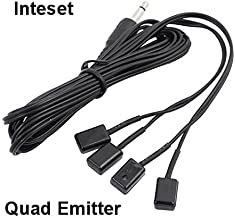 Inteset 4 Head IR Emitter/Blaster Cable for IR Repeaters and Extenders