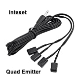 ir blaster jack - Inteset 4 Head IR Emitter/Blaster Cable for IR Repeaters and Extenders