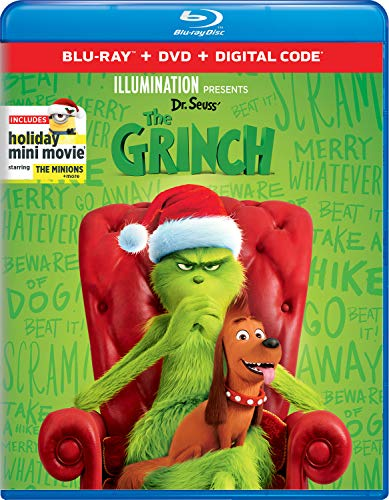 Illumination Presents: Dr. Seuss' The Grinch [Blu-ray+DVD+Digital] Packaging may vary