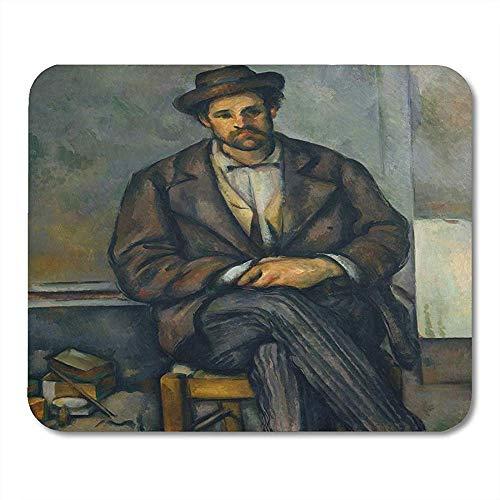 Seated Peasant von Paul Cezanne 1892 96 Französisch Postimpressionist Gemälde Öl auf Leinwand The Sitter ist glatt waschbar Anti-Rutsch-Gaming-Mousepads 18X22CM